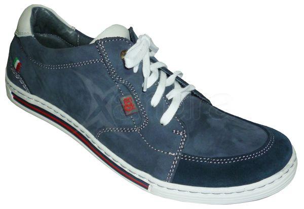 e283ac4b1e Pánske kožené topánky FOX - modré - kabelkyaobuv.sk - Xandra