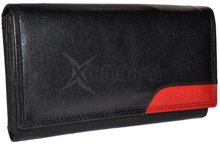 096737bb85 Dámska kožená peňaženka BELLUGIO - čierno-červená - kabelkyaobuv.sk ...