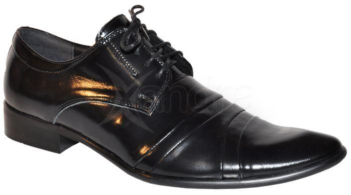 114a712b5adb4 Pánska kožená spoločenská obuv - čierna - kabelkyaobuv.sk - Xandra ...