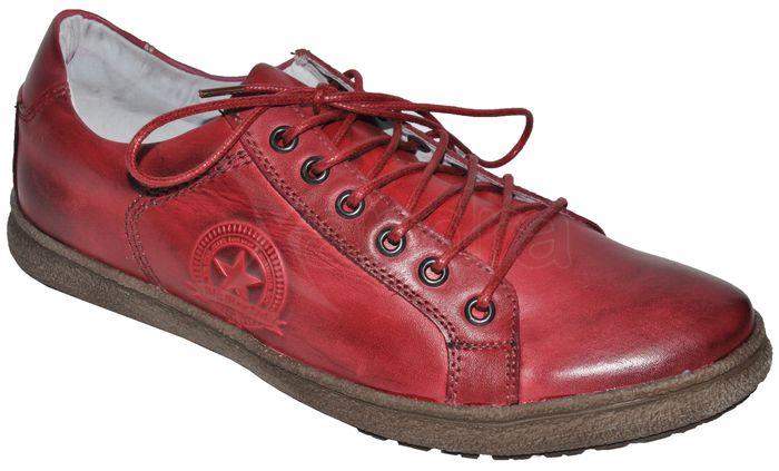Pánska kožená obuv BIG STAR - červené - kabelkyaobuv.sk - Xandra b4384cdc5a4