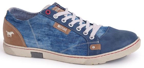 baff88819e32e Pánska obuv 34A012 - MUSTANG - modré - kabelkyaobuv.sk - Xandra, s.r.o.