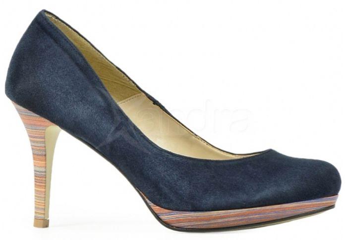 7287c36d1d3 Kožené lodičky C419 Olivia Shoes - modré - kabelkyaobuv.sk - Xandra ...