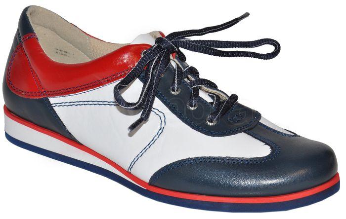 Dámska kožená obuv - bielo-modro-červená - kabelkyaobuv.sk - Xandra ... e527d34c39a