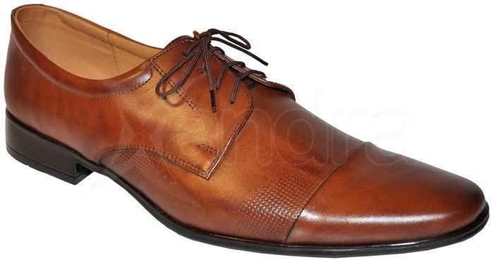 86b405869d31e Pánska kožená spoločenská obuv - hnedá - kabelkyaobuv.sk - Xandra ...