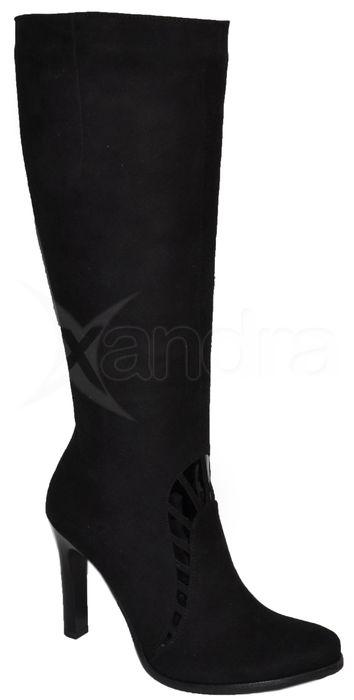 8f9f4f427b Dámske elegantné kožené čižmy - čierne - kabelkyaobuv.sk - Xandra ...