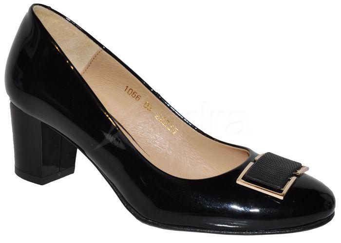 801c298f4146 Elegantné kožené lodičky lak - čierne - kabelkyaobuv.sk - Xandra