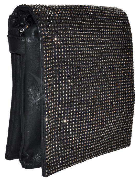 Crossbody s ozdobnými kamienkami - čierna - kabelkyaobuv.sk - Xandra ... 780b64475f3