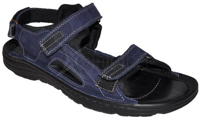 ec87f9d40ebcf Pánske kožené sandále - modré - kabelkyaobuv.sk - Xandra, s.r.o.