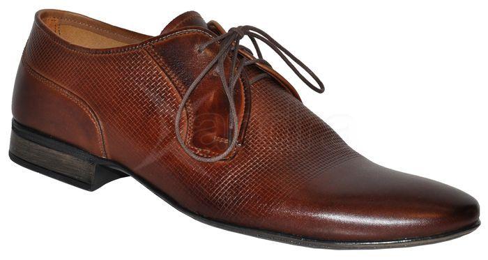 Pánska kožená spoločenská obuv LAVAGGIO - hnedé - kabelkyaobuv.sk ... 55aae87e864