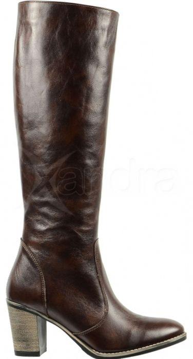 7502a6d6d8 Kožené čižmy OLIVIA SHOES - hnedé - kabelkyaobuv.sk - Xandra