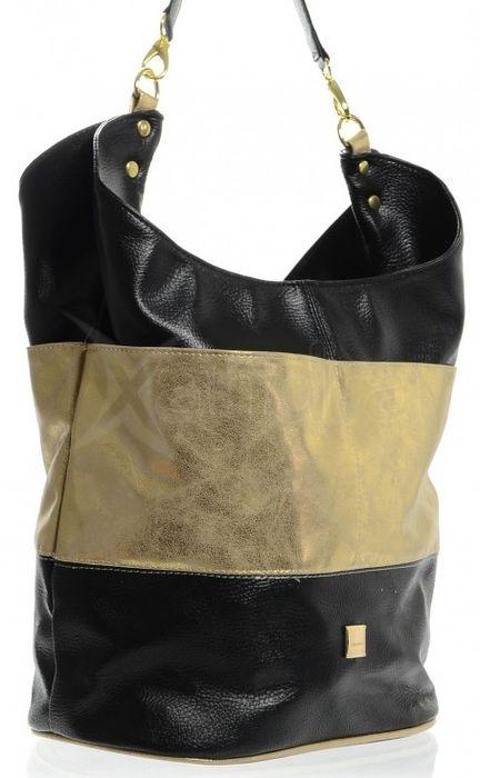 3276210c39 Patinovaná mechová kabelka S580 Grosso - čierno-zlatá - kabelkyaobuv ...