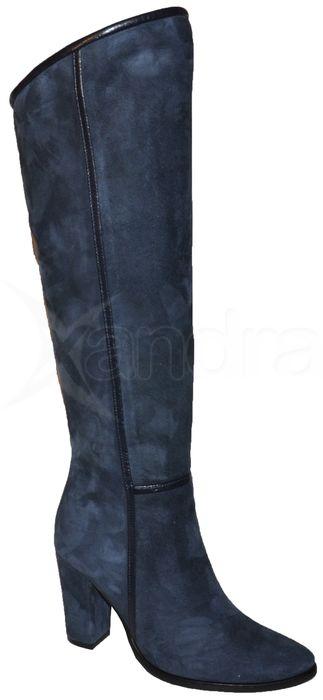 Dámske kožené čižmy Abil 8231 - modré - kabelkyaobuv.sk - Xandra 4811413981b