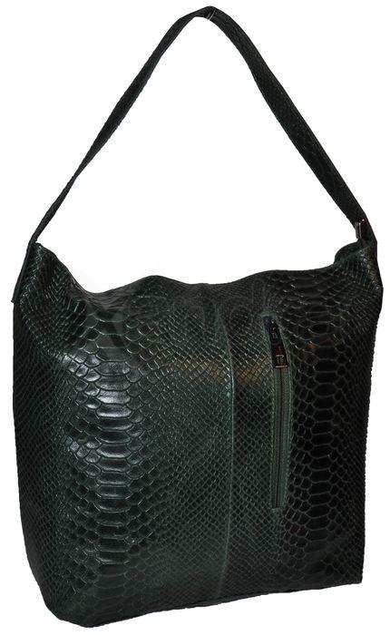 Dámska kožená kabelka 8440 - zelená - kabelkyaobuv.sk - Xandra fbe18cf5130