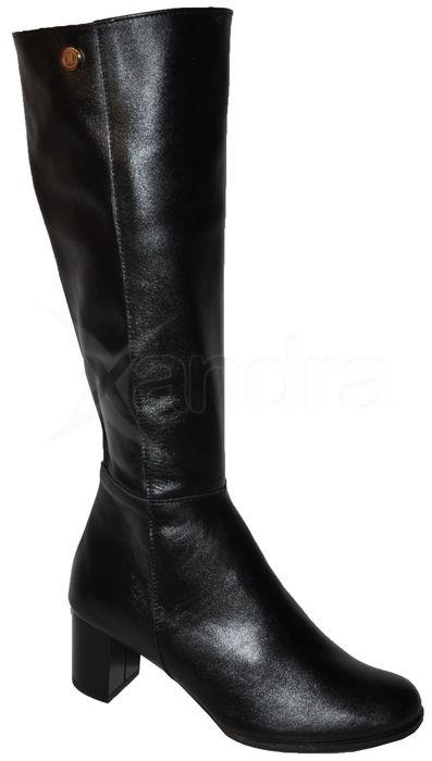 f78004c06f Dámske kožené čižmy Olivia Shoes 8473 - čierne - kabelkyaobuv.sk ...