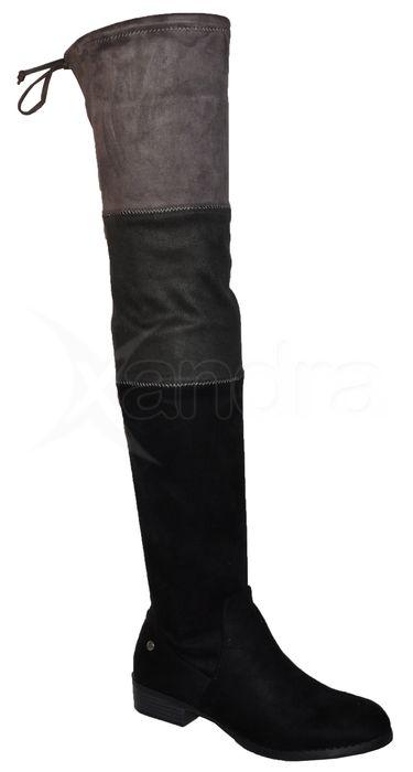 3ebe651261 Dámske strečové čižmy nad kolená BIG STAR 9205 - čierne ...