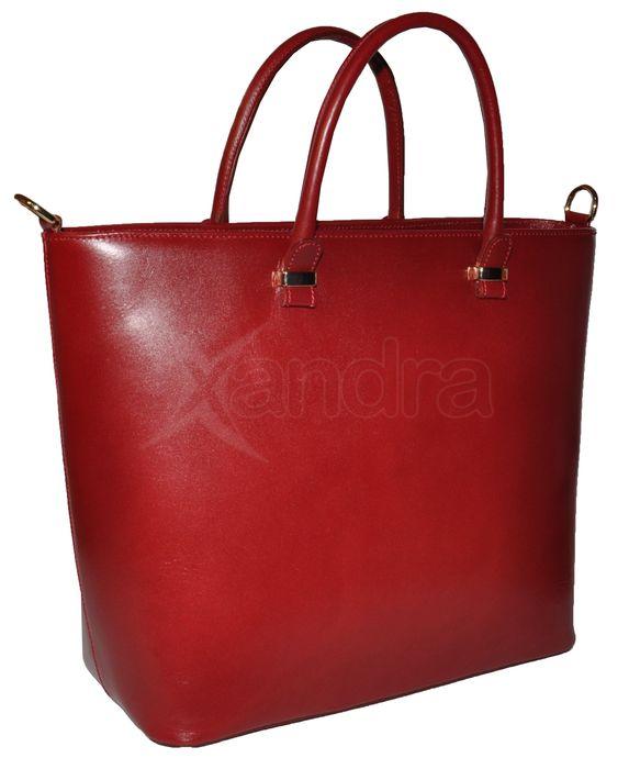 4057707423 Dámska kožená business taška 9518 - červená - kabelkyaobuv.sk ...