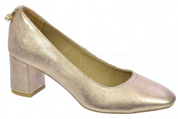 3cde498743 Dámske kožené lodičky Olivia Shoes DLO032 - 9531 - ružovo zlaté ...