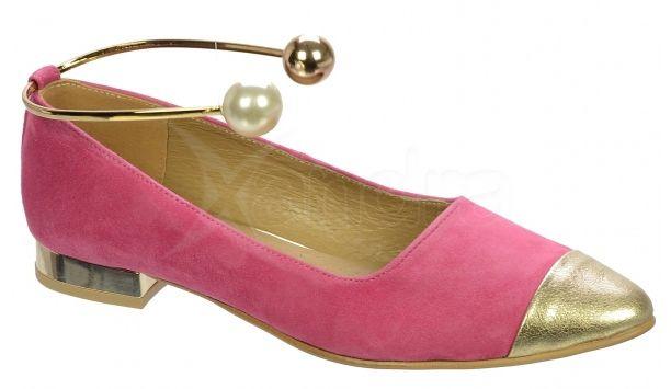 ff3325f67de82 Dámske kožené balerinky Olivia Shoes DBA024 - 9533 - ružové ...