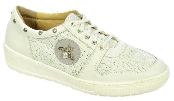 de1817412fd9 Dámske kožené tenisky Olivia Shoes DTE048 - 9634 - biele s ozdobou ...