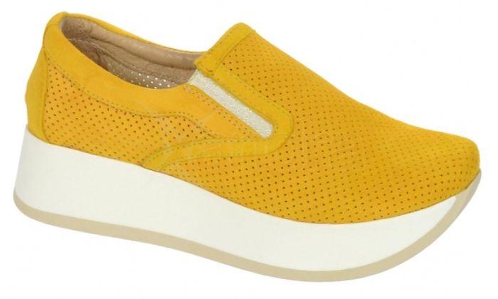 96fab37d2280 Dámske kožené tenisky Olivia Shoes DTE075 - 9744 - žlté ...