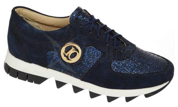Dámske kožené tenisky Olivia Shoes K894 - 9850 - modré ... d69ac9ca523