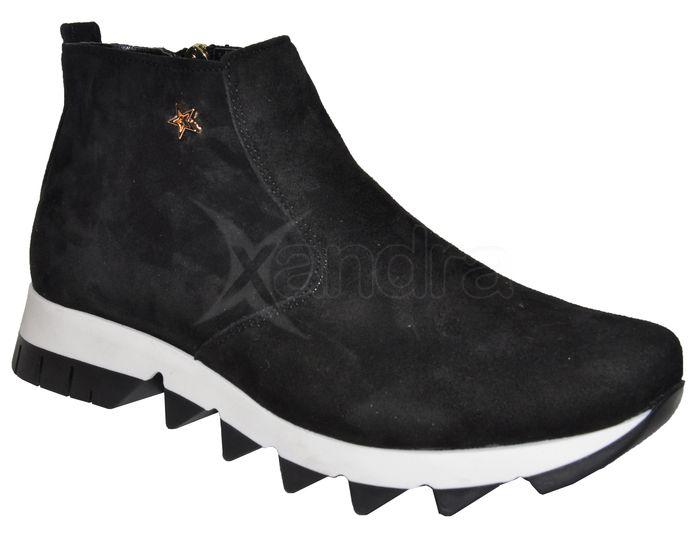 Dámske kožené kotničky Olivia Shoes DKO061 - 9852 - čierne - kabelkyaobuv.sk  - Xandra 0822be4ebc2