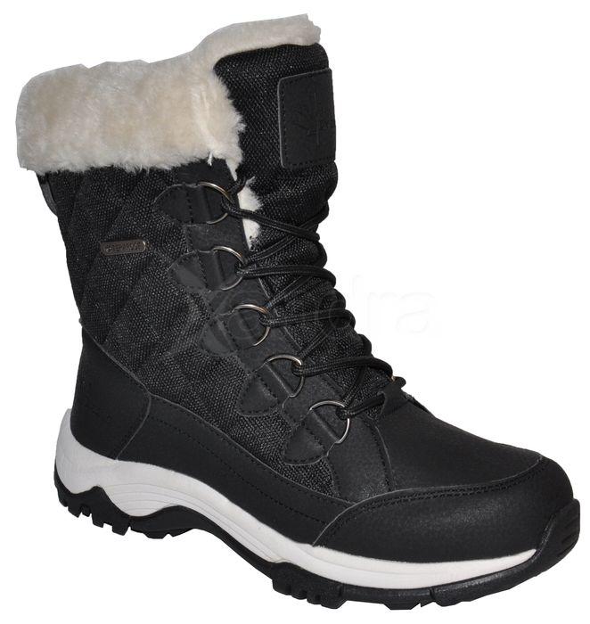 Dámske zimné snehule 10038 - nízke - čierne - kabelkyaobuv.sk - Xandra 85f25f8e0ce