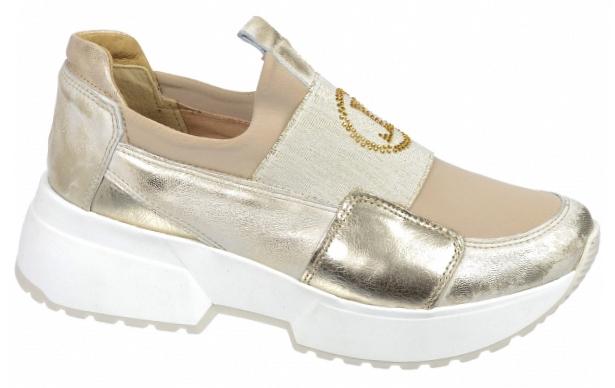 92352de0b2f2 Dámske kožené tenisky Olivia Shoes DTE3042 - 10198 - zlaté ...