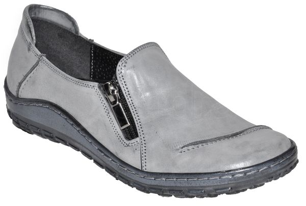 Dámska kožená vychádzková obuv - šedá - kabelkyaobuv.sk - Xandra 0101f86cf5