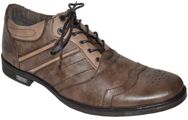 Pánske štýlové topánky BRUNO BANANI - hnedé - kabelkyaobuv.sk ... 2ba5561a53f