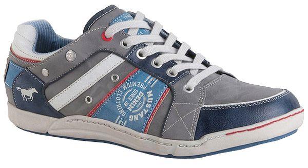 Pánske topánky MUSTANG 32A-034 - šedo-modré - kabelkyaobuv.sk ... 102ef45bfc