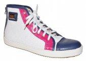 Kožené elegantno-športové topánky KATI - bielo-modré d7ef2bf078a