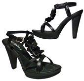 Kožené sandálky Rizzoli - čierne 141b6a5c523