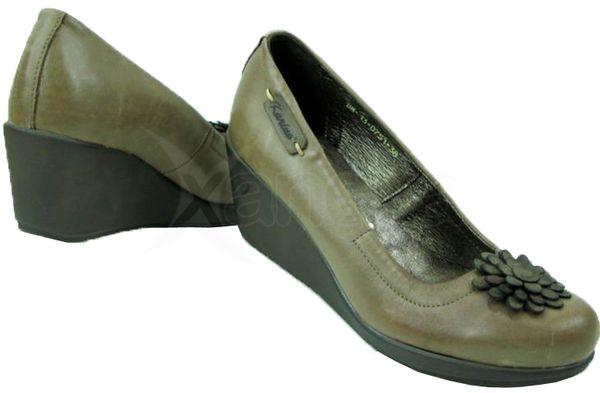 Kožené topánky na kline KARINO - olivové - kabelkyaobuv.sk - Xandra ... 0efabae4e17