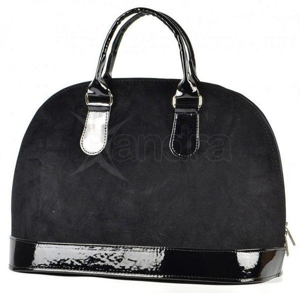 Čierna semišová kabelka do ruky S24 - Grosso - kabelkyaobuv.sk . bccb68ef546
