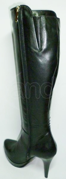 28459dd8c0 Dámske kožené elegantné čižmy - čierne Dámske kožené elegantné čižmy -  čierne ...