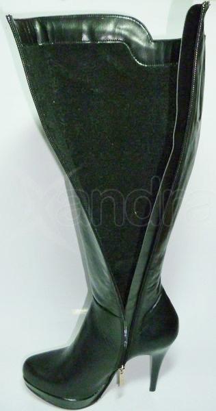 eed3c76822 Dámske kožené elegantné čižmy - čierne - kabelkyaobuv.sk - Xandra ...