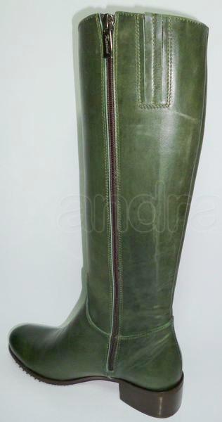 Dámske kožené čižmy KARINO - zelené Dámske kožené čižmy KARINO - zelené ... 12539110efa