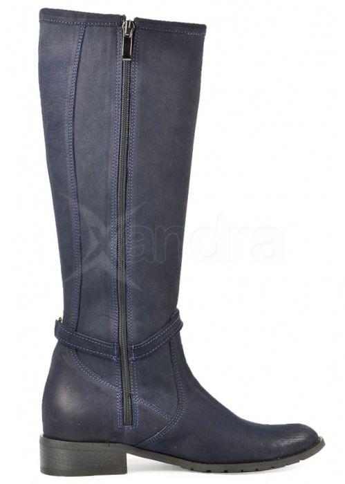 Dámske modré čižmy 734-1 - Olivia Shoes - kabelkyaobuv.sk - Xandra ... 7f69c9492ca