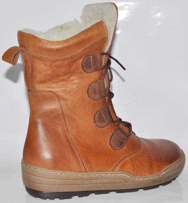 16b89c391a Dámske kožené nízke čižmy - hnedé - kabelkyaobuv.sk - Xandra
