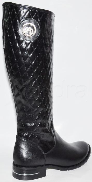 e2c6ac3b2b4e Dámske kožené čižmy - čierne - kabelkyaobuv.sk - Xandra