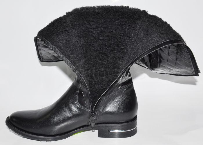 85b4bd9853 Dámske kožené čižmy - čierne - kabelkyaobuv.sk - Xandra