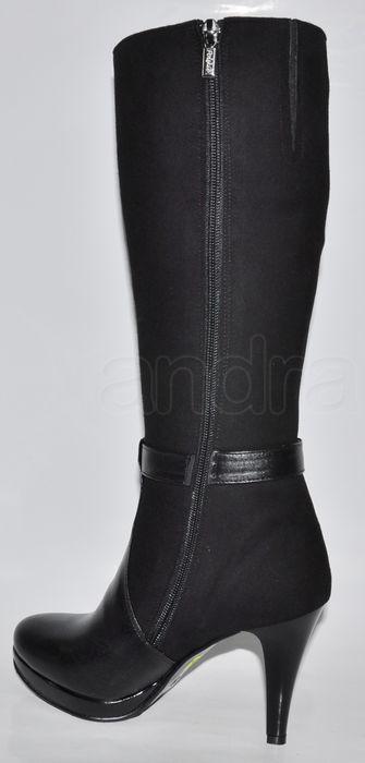 96b114b947 Elegantné kožené čižmy - čierne Elegantné kožené čižmy - čierne ...