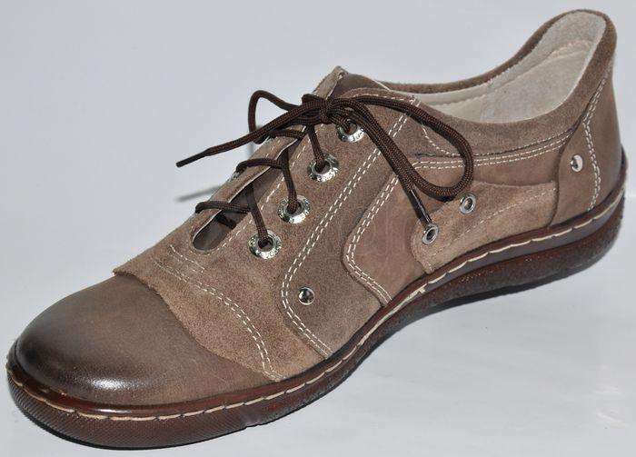 Dámska kožená vychádzková obuv - hnedá - kabelkyaobuv.sk - Xandra ... c23ae0ccf45
