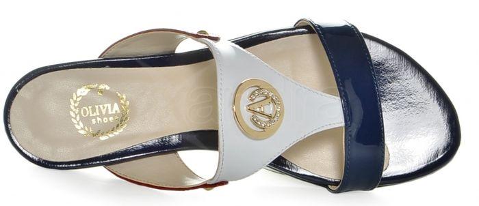 58c8adbb59ed ... Elegantné farebné šľapky 226 Olivia - bielo-modro-červené ...