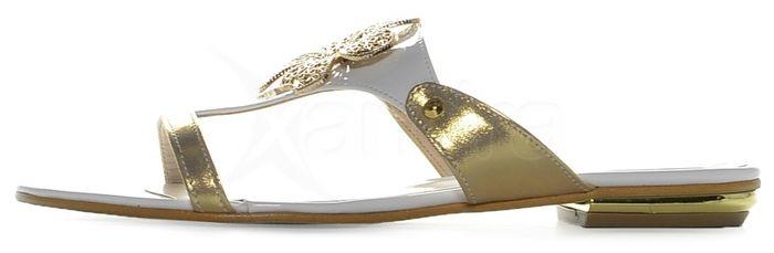 0ccf2a4c3a1d Elegantné šľapky 247 white gold Olivia - bielo-zlaté - kabelkyaobuv ...