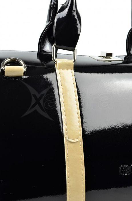 4a17924254 Elegantná lakovaná kabelka S466 Grosso - čierna - kabelkyaobuv.sk ...
