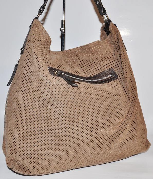 Štýlová kožená kabelka - svetlo-hnedá - kabelkyaobuv.sk - Xandra bc460c152d7