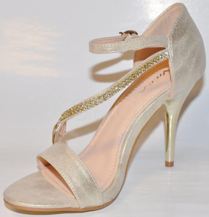 4473e69bafd1 Elegantné spoločenské sandálky - zlaté - kabelkyaobuv.sk - Xandra ...