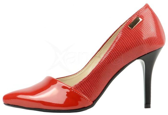 Kožené lodičky 861-1 OLIVIA SHOES - červené - kabelkyaobuv.sk ... f2b3368b55